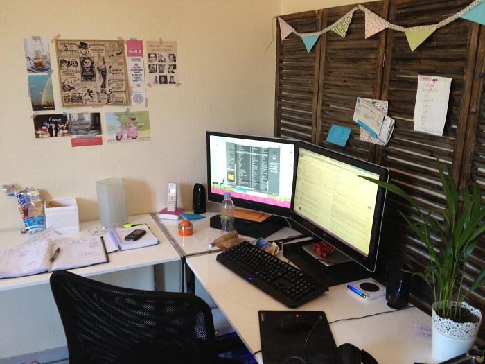 c est comment un bureau de fille qui bosse dans le web