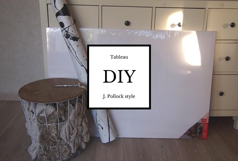DIY tableau tâches d'encre + concours